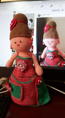 crochet toy 3# organiser doll