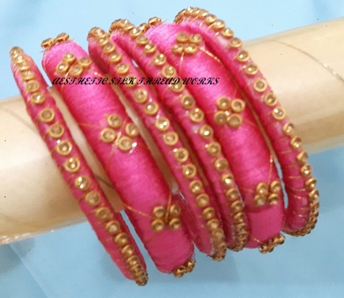 silkthread bangles Created By Aesthetic silk thread works Posted By Aesthetic Crochet