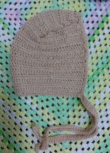 crochet baby bonnet Created By Aesthetic crochet Posted By Aesthetic Crochet