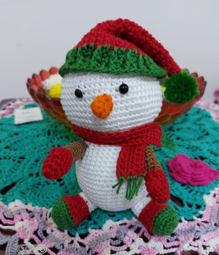 handmade crochet toy# best gift#⛇ snowman Created By Aesthetic crochet Posted By Aesthetic Crochet