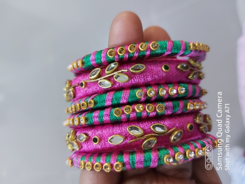 Silkthread bangles Created By Aesthetic crochet Posted By Aesthetic Crochet