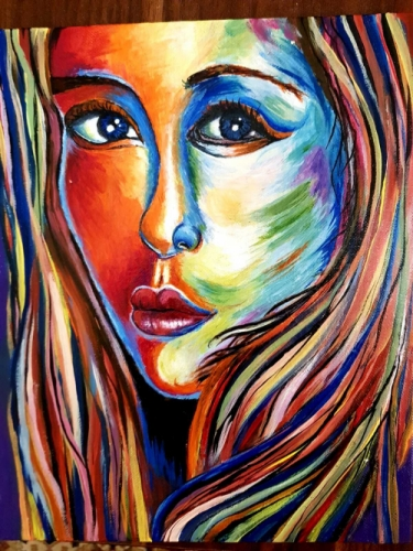 Woman in Color Created By Sara Mohamed Posted By Charity Artisium