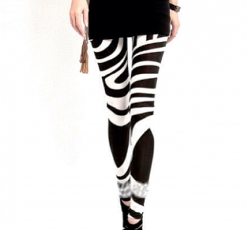 Black & White Leggings Created By Doha Shop Posted By Doha_Shop