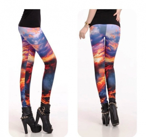 Sky Design Leggings Created By Doha Shop Posted By Doha_Shop