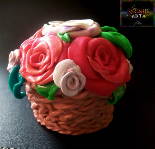 Flower Basket Created By Wasan Posted By Wasan Art