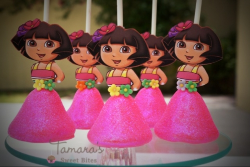 dora cake pops Created By  Posted By Tamara Sweet Bites