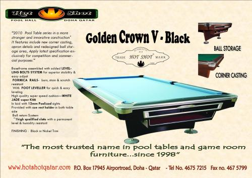 Qatar Collections Professional Golden Crown Pool