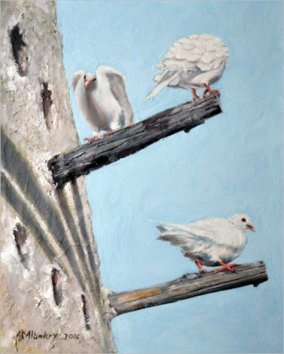 White Doves Created By  Posted By Kareem G Albakry