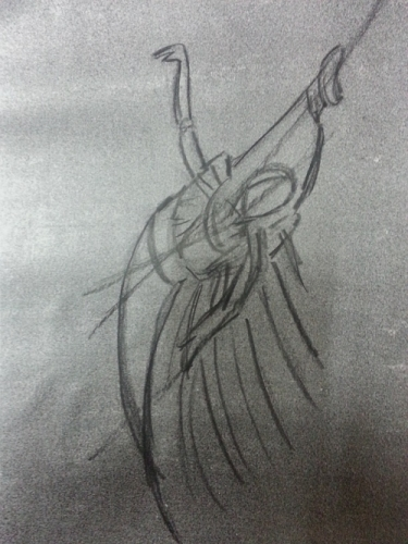 Sketch for ballet Created By  Posted By Karen Alicia Sinclair