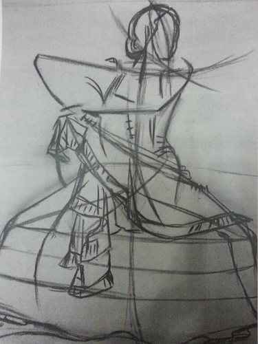 Sketch for Flamenco dancer Created By  Posted By Karen Alicia Sinclair