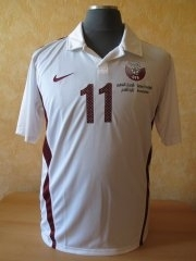 Qatar match worn away shirt Created By  Posted By Daniel Haas