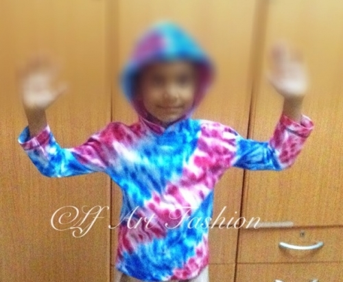 Hand dyed kids hoodie Created By Artist Posted By Layeeqa Fathima