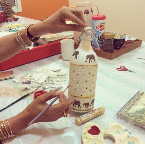 Decoupage Workshop Created By  Posted By Arts and Crafts Center Doha