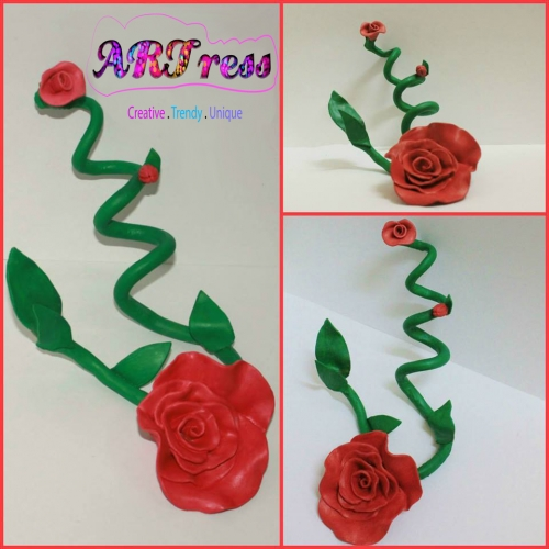 3D Spiral Rose Sculpture Created By ARTress Qatar Posted By Amber Rauf